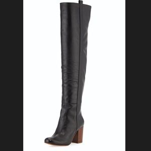Vince Camuto Signature Leather Black Boots
